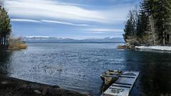 Private Dock (San Francisco Gal) Tags: laketahoe lake water dock trees clouds lenticular snow sierranevada tahoecity