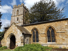 Edgcote Church, Northamptonshire, 23 April 2017 (AndrewDixon2812) Tags: edgcote chipping warden banbury northamptonshire ironstone church tower