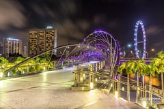 Singapore, Helix Bridge (crearoom.ch) Tags: night building asia helixbridge city lights flyer travel crearoom landschaft marinabaysands singapore landscape bridge marina tageszeiten color asien brücke gebäude lichter nacht reise singapur stadt sg