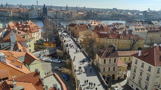 view of  Charles Bridge and the Old Town, Prague