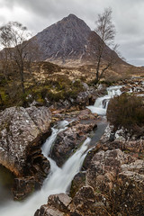 Buachaille Etive Mor (Mark Alan Andre) Tags: markalanandre scotland travel unitedkingdon clouds landscape mountain waterfall tree