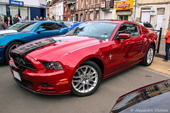 2013/2014 Ford Mustang (Alexandre D_) Tags: canon eos 70d sigma sigma1835mmf18hsmart 1835mm cars car carspotting carshow red glossy paint mustang ford musclecar american us heninbeaumont france hautsdefrance nord pasdecalais sportive automotive automobile auto vehicles vehicle vehicule voiture