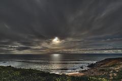 Dark sunset (JG - Instants of light) Tags: sea sun clouds cliffs water ocean sky landscape natura pôrdosol escuro mar sol nuvens falésia água oceano céu paisagem natureza nikon d5500 sigma 1020 portugal