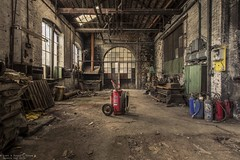 We didn't start the fire (Dennis van Dijk) Tags: urbex urban exploration abandoned forgotten decay derelict industry industrial usine s belgium eu ue europe prescious beauty lost found rust dust canon travel amazing work shop men old