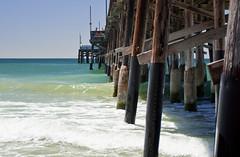 Wave Pier (Mattie's Travels And Adventures) Tags: newport pier ocean wave waves dock california cali under below sun summer warm hot cool fun