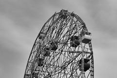 Wonder Wheel (paleyphotos) Tags: blackwhite bw monochrome flickrelite ferris robot mr mrrobot coneyisland wherl wonder island coney brooklyn york new newyork nyc
