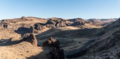 Arid Landscape (maytag97) Tags: maytag97 idaho owyhee mountain range outdoor blue sky cloud desert road highway landscape rock formation arid shadow nikon d750