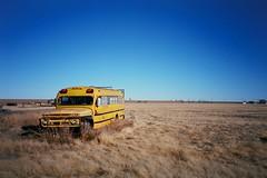 Deaf Smith County, Texas. 2.7.15. (Nothing Signified) Tags: schoolsoutforsummer schoolsoutforever schoolsbeenblowntopieces deafsmithcounty deafsmithcountytexas texaspanhandle texas tx txpanhandle ruraltexas america americana olympusxa2 olympus rangefinder kodakektar100 kodakektar ektar100 kodak kodakfilm ektar schoolbus nothingsignified danwatsonphotography texaspanhandlephotos filmphotography filmphotos filmphoto analoguephotography analogphotography analogphotos analoguephotos hereford bus yellowbus analoguefilmphotography newtopographics vingnetting 35mm schoolsout democraticforest