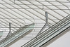 Catenary railway (Jan van der Wolf) Tags: map15455v station stairs staircase stairway white lines lijnen lijnenspel bovenleiding trainstation roltrappen handrail handrails architecture architectuur modernarchitecture overheadwire catenaryrailway overheadline liege liègeguillemins escalator movingstaircase