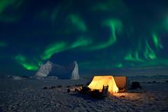 Arctic Night (orvaratli) Tags: greenland arcticphoto arctic aurora auroraborealis northernlights remote scoresbysund iceberg camp night cold