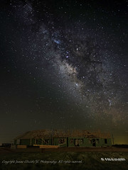 Clark Residence Milky Way-01 (jamesclinich) Tags: texas tx milkyway nighttime sky stars architecture buildings trusses jamesclinich olympus omd em10 corel aftershotpro adobe photoshop topaz denoise detail anton tripod ledlightpanel lowlevellighting