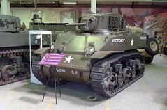 M3A1 Stuart light tank (Ronald_H) Tags: muséedesblindés holiday france nikon fe expired film 2017 tank museum mixed fluorescent lighting musée des blindés m3a1 stuart light