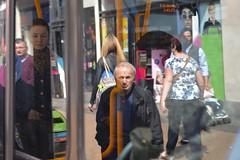 SC Oxford St. 7may17 (richardbw9) Tags: london uk england city street urban londonstreetphotography streetphoto streetshot oxfordstreet westminster senior seniors seniorcitizen seniorportrait seniorcity doubledecker bus londonbus reflection window crowd shoppers