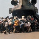 Fall of Saigon - 14 Apr 1975, Xuan Loc - Vietnamese Refugees Rushing to Board Helicopter thumbnail