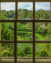 Gardens (tubblesnap) Tags: fountains abbey national trust studley royal gardens window