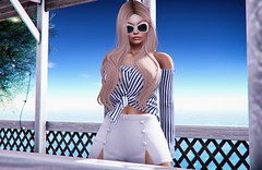 Somewhere out in the Hamptons (3XIS) Tags: blog blogger blogging entwined exis fameshed fashion ison lelutka navy photography secondlife style summer theserein uber zoom