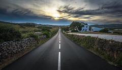 Road to the infinite (Menorca) (Attila C.) Tags: sunset sun travel road infinite light nikon d610 nikkor1635mmf4 menorca fardecavalleria ride sky