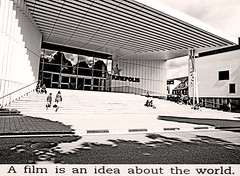 Kinepolis (kirstiecat) Tags: monochrome blackandwhite noiretblanc monochormemonday ghent gent belgium europe people street canon shadows light architecture reflection quote book novel danaspiotta read books fiction kinepolis cinema film literature innocentsandothers