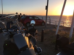 Sun Setting on the Forth (Broliant) Tags: bmw r1200gsa motorrad sunset forth bridges