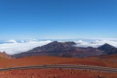 Lonely At The Top (_city_of_broken_dreams_) Tags: nikon nikond750 d750 volcano summit travel adventure maui hawaii haleakala cycling cyclist skyscape nature