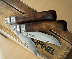 Opinel 8 (ma_ba) Tags: opinel burned wood edc france knife knives pocket classic carbon nóż kozik
