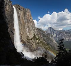 Yosemite Falls (geekyrocketguy) Tags: yosemite nationalpark falls waterfall waterfalls fall halfdome rainbow