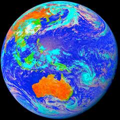 Western Pacific Basin with Dust from China, variant (sjrankin) Tags: 7may2017 edited weather climate dust hokkaido japan jaxa korea koreanpeninsula pacificocean seaofjapan china russia himawari8 easternhemisphere pacificbasin australia india indonesia southpole storms