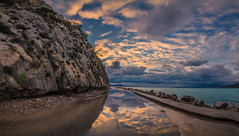 After the rain (Vagelis Pikoulas) Tags: rain panorama panoramic pano reflection reflections psatha greece europe rock rocks sea seascape landscape sunset sky canon 6d tokina 1628mm