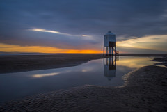 when angels cry (Wizard CG) Tags: lighthouse burnhamonsea bristol channel low tide somerset long exposure burnham sun set sky cloud outdoor landscape shore seaside wide angle united kingdom south west england reflections sunset uk sand epl7 olympus world trekker water ngc beach sea ocean coast