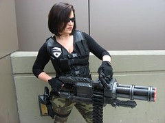 G.I JOE: Lady Jaye (MorpheusBlade) Tags: 2017eastcoastcomicon eastcoastcomiccon costume cosplay comicon ladyjaye gijoe minigun