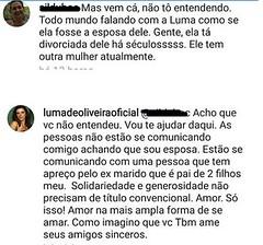 Luma de Oliveira rebate críticas após declarar apoio a Eike: 'Tenho apreço pelo meu ex-marido' (portalminas) Tags: luma de oliveira rebate críticas após declarar apoio eike tenho apreço pelo meu exmarido