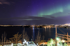 Northern lights over Oslo (b.adolphi) Tags: sky night aurora oslo
