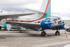 Private Beech SNB-1 Kansan N2880D (jbp274) Tags: cno kcno airport airplanes vintage warbird beech beechcraft model18 beech18 c45 snb kansan cloudy