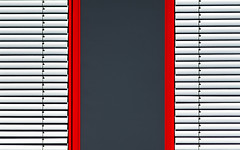 MiNiMaL UrBaN (Lunor 61) Tags: abstract abstrakt minimal minimalismus minimalistisch urban architektur architecture facade fassade linien lines textures symmetry symmetrie graphic white weis red rot grey grau ireneeberwein