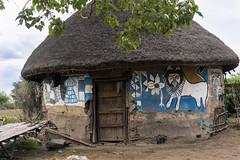 Ethiopia. Traditional house Alaba (courregesg) Tags: ethiopia architecture traditional alaba tribe tribal decoration art painting ethic