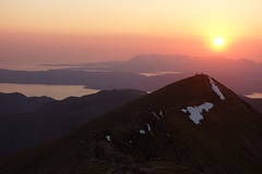 Last light, looking over to Skye, 1st May '17 (Hazel Strachan) Tags: knoydart munros skye scotland sunset