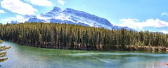 Johnson Lake and Mount Rundle - ICE(5)1515-19 (photos by Bob V) Tags: mountains rockies rockymountains banff banffpark banffnationalpark alberta albertacanada johnsonlake panorama mountainpanorama mountrundle
