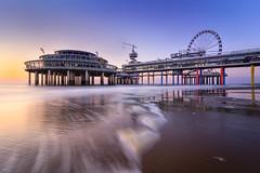 The Pier (martijnvdnat) Tags: scheveningen architecture beach evening pier sand sea shore shoreline sky sunset thehague water