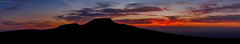 Pen y Fan & Corn Du (Explored 12/05/2017) (parry101) Tags: south wales southwales nature geraint parry geraintparry landscape brecon beacons brecnbeacons penyfan corndu corn du pen y fan mountain mountains range silhouette sunset colours vibrant colour orange purple red peak peaks national park nationalpark sky skies pano panoramic panorama wide