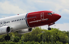 Norwegian Air Boeing 737 LN-NGZ (megatroncox) Tags: norwegian air boeing b737 737 norway oslo dublin airport ireland airplane aircraft take off departure sky trees wheels