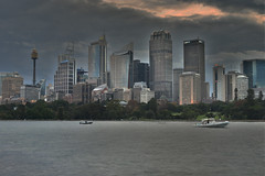 sydney city (Greg Rohan) Tags: sunset nightphotography skyscrapers highrise building cityscape orangesky sky clouds city sydney photography 2017 d7200 skyline