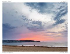 Hendaye - Sunset (BerColly) Tags: france paysbasque hendaye couchersoleil sunset ocean mer sea ciel sky nuages clouds palge beach smartphone samsunggalaxy
