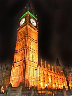 London England  ~ Big Ben ~ Palace of Westminster ~ Hight view of Tower