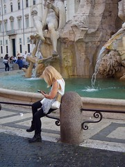 Fountain Beauty ... Piazza Navona - Rome (mikehaui60) Tags: olympuspenepm2 pen epm2 mft streetphotography peoplephotography rome italy fountain piazzanavona