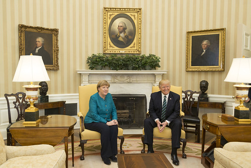 From flickr.com: Trump Merkel {MID-123621}