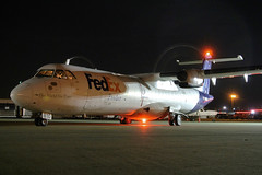 N810FX FedEx Feeder ATR-72-202 in KCLE (GeorgeM757) Tags: n810fx fedexfeeder atr72202 freighter clevelandhopkins cargo airport aircraft airfreight kcle nightairplane georgem757 n722te aerospatiale
