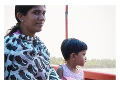 the crossing (handheld-films) Tags: india kerala backwaters portrait portraiture mother daughter ferry people closeup indian subcontinent family relationships woman girl women