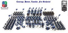 """Full contingent of Garheim Crown Lion troops • <a style=""""font-size:0.8em;"""" href=""""https://www.flickr.com/photos/63566512@N03/34680305226/"""" target=""""_blank"""">View on Flickr</a>"""