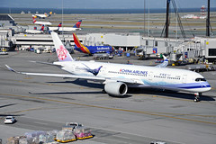 B-18901 (Rich Snyder--Jetarazzi Photography) Tags: chinaairlines dynasty cal ci airbus a350 a350900 a350941 a359 b18901 mikadopheasant departure departing sanfranciscointernationalairport sfo ksfo millbrae california ca airplane airliner aircraft jet plane jetliner ramptowera rcta atower