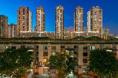 The five housing blocks of Toa Payoh [Explored] (BP Chua) Tags: singapore asia house housing estate hdb toapayoh bluehour evening blocks nikon d800e wideangle landscape residential